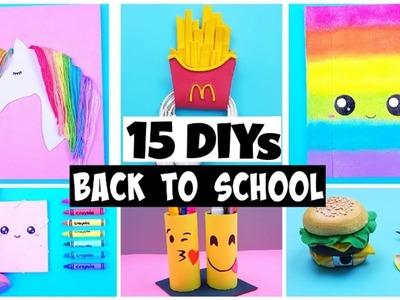 MAKING 15 AMAZING DIY School Supplies, Notebooks & Desk Organization COMPILATION!