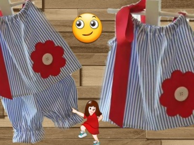 Night dress for kids full tutorial cutting and stitching . Designer baby top. by simple cutting