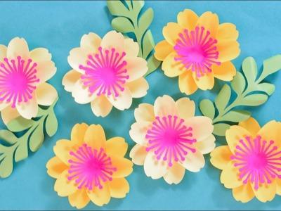 Paper Flower Tutorial with Poppy Center: Mary Jane Flower Template