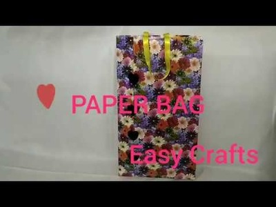 Paper Shopping Bag DIY | paper Bag | JAAS Easy Crafts