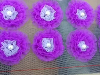 Puffy Flower Making Embroidery Tutorial