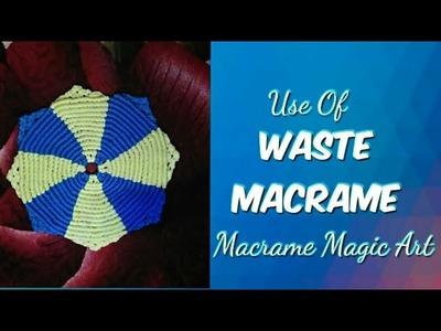 Super easy beautiful dining mat tutorial using #waste macrame cords????  Macrame magic art