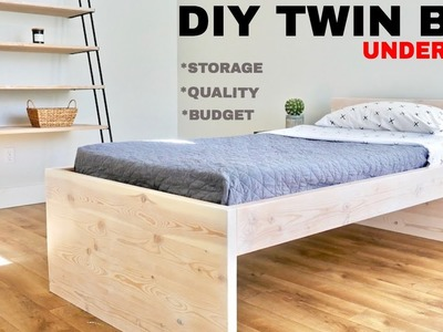 Twin Low Loft Bed. How to Make
