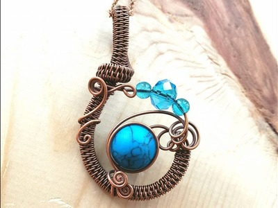 Wire Wrap Jewelry Tutorial for the Woven Curl Pendant ~ This is a two part video ~4b