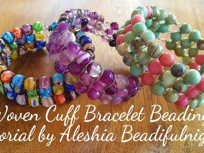 Woven Cuff Bracelet Beading Tutorial