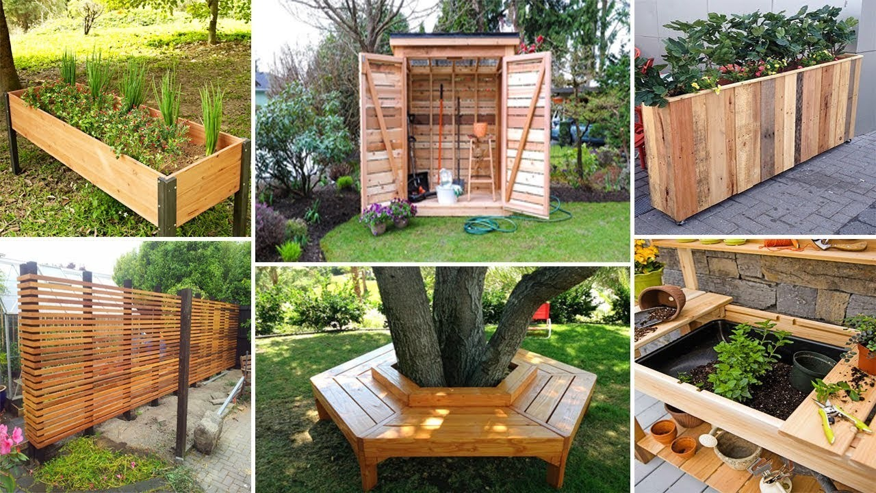 100 DIY Wood Projects for Garden YOU CAN START NOW   DIY Garden