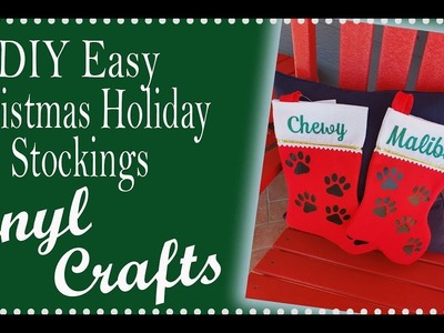 Beginner Projects for Cricut Christmas DIY stockings with Vinyl