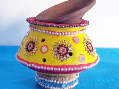 DIY at Home   Navratri Garba Kalash Decoration Idea   Festival Decoration Ideas   Garba Decoration