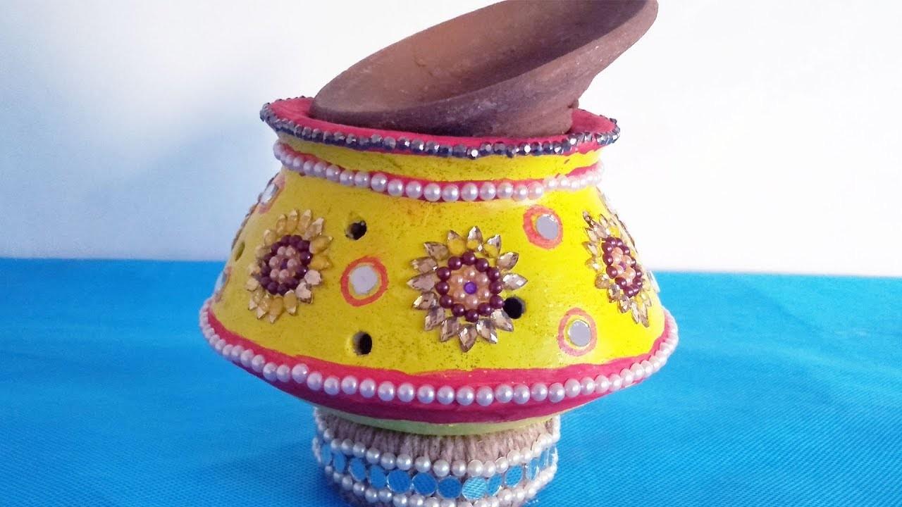 DIY at Home | Navratri Garba Kalash Decoration Idea | Festival Decoration Ideas | Garba Decoration
