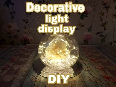 DIY Decorative light up table decoration | Using Home Bargains & Poundland Items