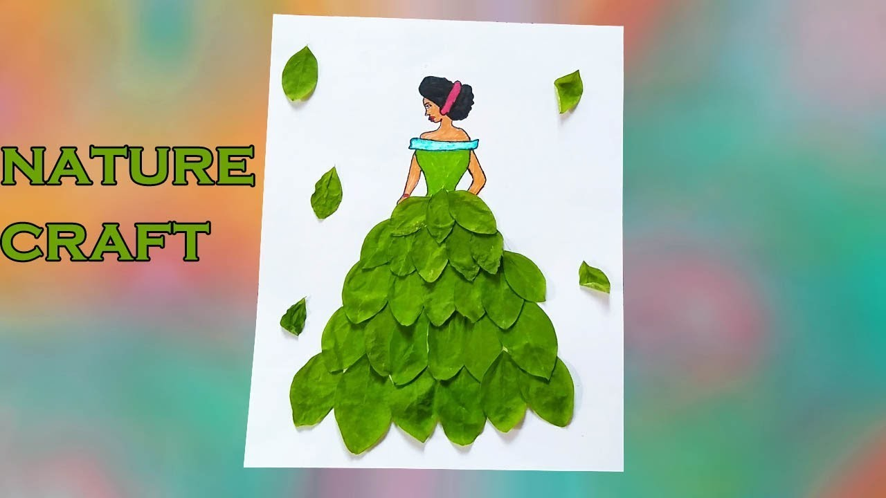 DIY Doll Decoration Idea | How to Make Paper Dolls Dress