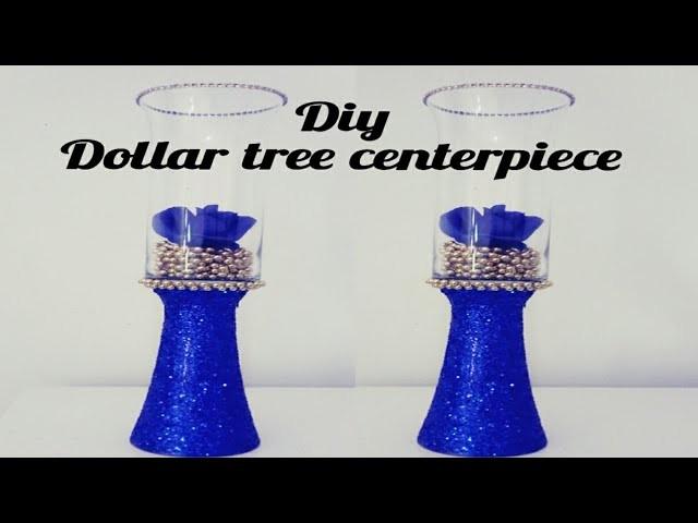 DIY DOLLAR TREE ROYAL BLUE AND GOLD CENTERPIECE