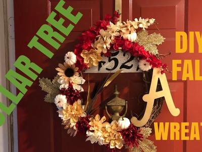 DIY: FALL DOLLAR TREE WREATH!!!