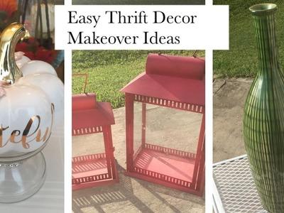 DIY Glamorous Home Decor Makeover Using Spray Paint! ????
