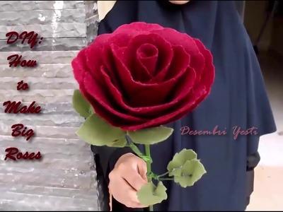 DIY Single Rose out of Felt - Giant Long Stem Roses