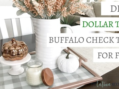 Dollar Tree Buffalo Check Tray for FALL 2018 | Fall Decor DIY