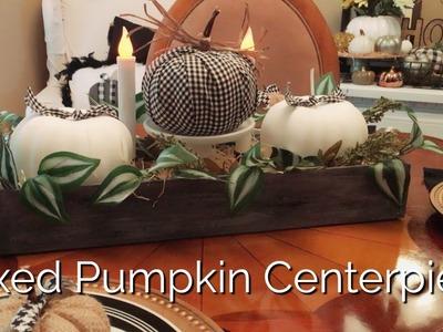 Dollar Tree DIY Boxed Pumpkin Centerpiece | Fall Farmhouse Table Decor