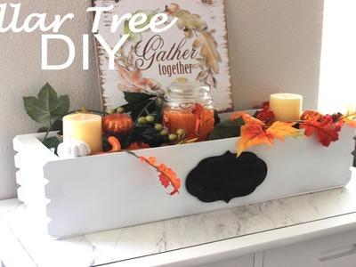 DOLLAR TREE DIY|FLOWER BOX CENTERPIECE|FALL DECOR 2018 |FARMHOUSE DECOR