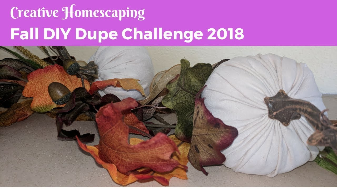 FALL DIY DUPE CHALLENGE HOSTED BY KENYA'S DECOR CORNER & ECLECTIC KRISTEN