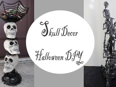 Halloween Decor. Skull Candy Stand. Dollar Store DIY