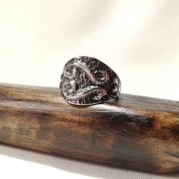 Handmade Abstract Sterling Silver Ring