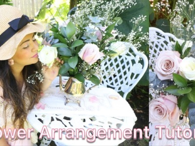 HOW TO ARRANGE ROSES | DIY FLOWER ARRANGEMENTS | SHABBY CHIC WEDDING CENTERPIECE | GLOBALROSE |