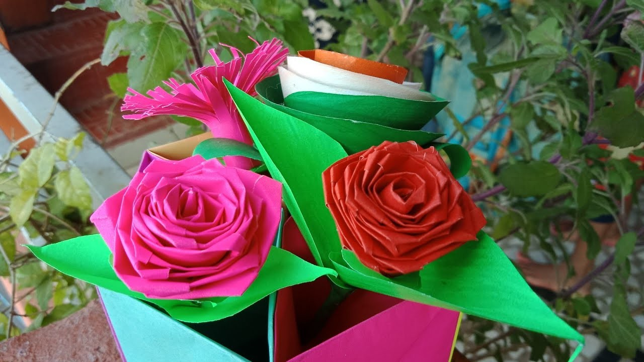 how to make rose with craft paper