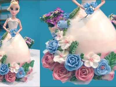 How to Make Cake at Home - BABY DOLL Flower Cake - Easy DIY Cake Decorating Ideas