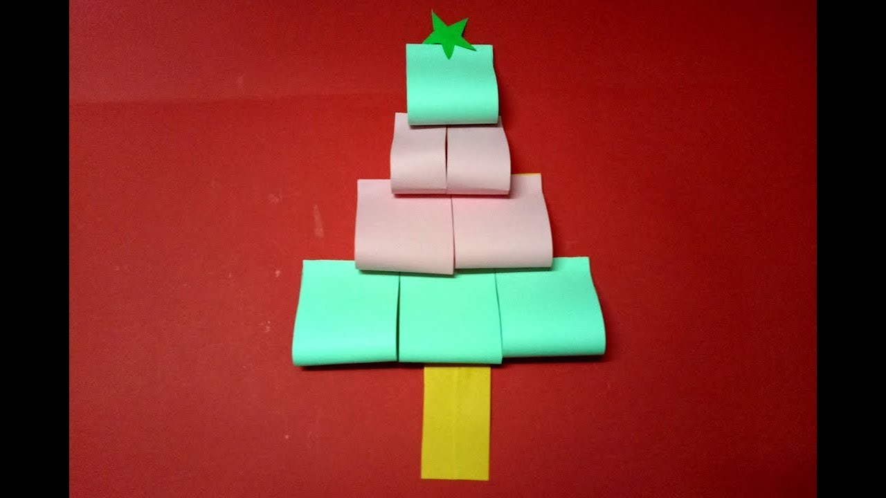 how to make populer 3d paper christmas tree very easy