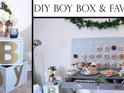 How to Plan a Baby Shower on a Budget Part 2 | DIY B-O-Y BOX & FAVORS | Aziza Mohammad