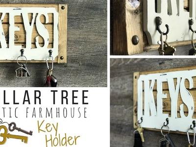 Key Holder DIY | DOLLAR TREE DIY | Rustic Farmhouse Style | Ashleigh Lauren