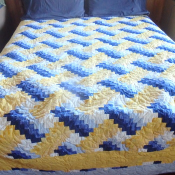 Queen Sized Woven Designed Quilt