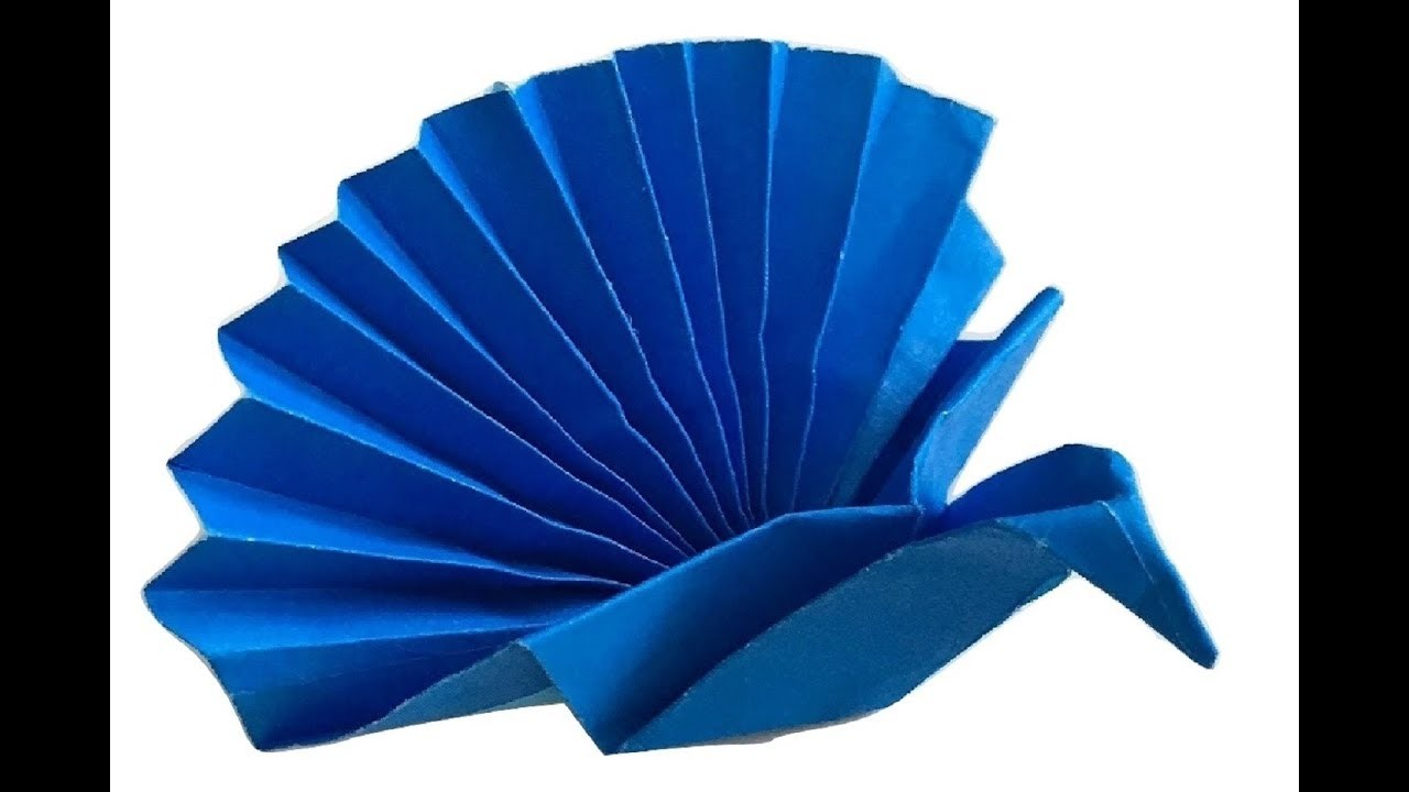 Simple Origami How To Make A Tiny Small Quick Paper Peacock