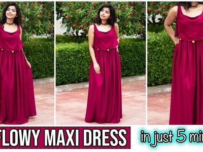 DIY : Flowy मैक्सी ड्रेस  In Just 5 Minutes| TheDIYGirl Hindi