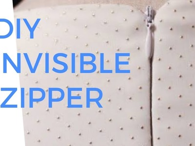 DIY HOW TO INSTALL AN INVISIBLE  ZIPPER,  WITHOUT A ZIPPER FOOT