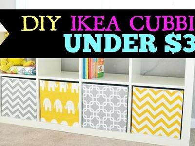 DIY Ikea Cubbies for under $3!