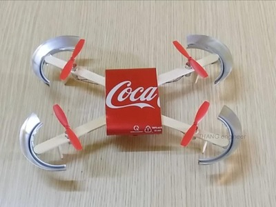 How to make a Drone Helicopter at home | DIY Coca Cola Drone