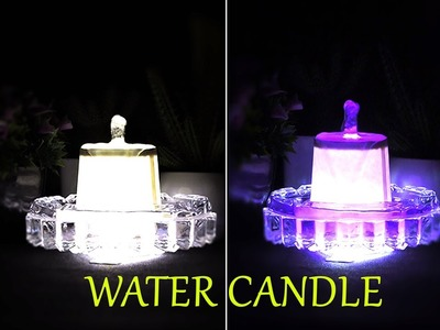 Make a Mini tabletop fountain at home very easy | 100% DIY (Water Candle)