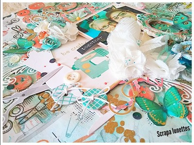 """Page scrapbooking mixed media layout process ll """" Be crafty together"""""""