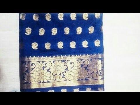 f37ce9441d104 Paithani blouse back neck design cutting   stitching