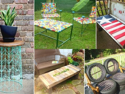 Recycled Outdoor Furniture Ideas | DIY Garden