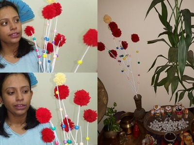 Spent 20rs for this flower sticks diy.no cost flower making diy.easiest way to make flower stick diy