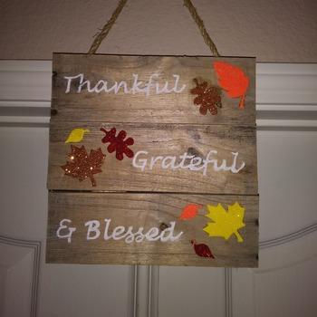 Thankful, Grateful, & Blessed