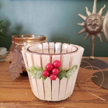 "4"" embellished Christmas candle"
