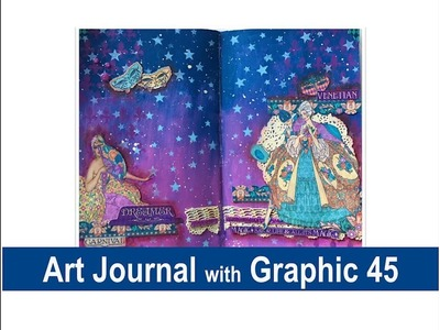 Art Journal with Graphic 45 Paper Collection
