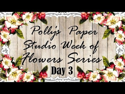 Day 3 Week of Flowers Series Easy Halloween Flowers Polly's Paper Studio Tutorial DIY  Vintage