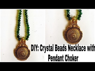 DIY: Crystal Beads Necklace with Pendant