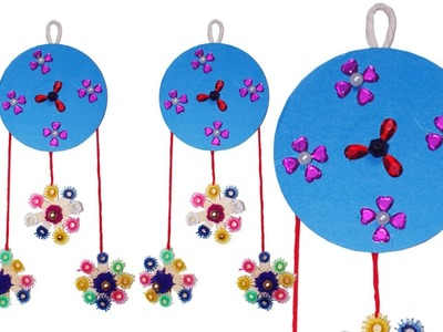 DIY: Plastic Old CDs Wall Hanging!!! How to Make Beautiful Wall Hanging With Plastic CDs & Woolen