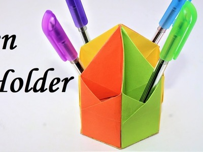 Easy crafts | How to make a pen stand with paper step by step | pen stand | pen holder