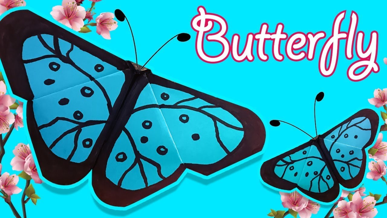 Easy Origami Paper BUTTERFLY ???????? Easy DIY Paper Crafts [4K]